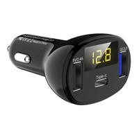 C02 LED 디스플레이 빠른 유형-C 차량용 충전기 모바일 QC3.0 빠른 듀얼 USB 자동차 충전기 자동차 충전기 아이폰 삼성 화웨이 샤오 미를위한