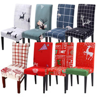 의자 커버 탈착식 의자 커버 스트레치 다이닝 좌석 덮개 덮개 웨딩 장식 크리스마스 LXL776-1