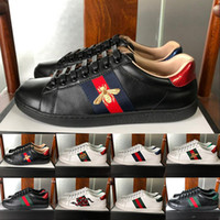 New Fashion Top Quality Luxury ricamato a righe Designer Shoes Vari Styles Comfort Uomo Donna bianco Sneakers in vera pelle Luxury Sho