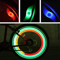 Lumières de vélo LED Bicyclettes ACCESSOIRES DE LUMIÈRE ÉTAPILE Lampe Flash Lumineux Brillant Ampoule Vélo Tyr Roue Tyr ALLÉMENT 4 COULEURS