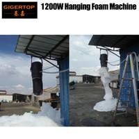 TIPTOP 1200W Hanging Schiuma fase della macchina del partito Club proiettore Grande Foam ad alta potenza della pompa di olio Hang design Staffa Flight Case di imballaggio 100-220V