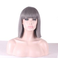 Women Hair Animation Wigs Cosplay Short Straight Wigs High T...
