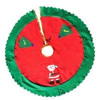 2020 neue heiße ZXZ 1 Stück 90 cm Weihnachtsmann-Muster-Non-Woven Fabrics Weihnachtsbaum-Rock-Abdeckung Schmuck Zubehör