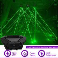 Kafa Örümcek Işın Lazer Işığı DMX Efendi-Ana Gig Parti DJ Profesyonel Sahne Aydınlatma 109g Hareketli Sharelife 9 Gözler Yeşil