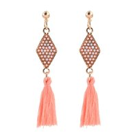 handmade ethnic bohemian long thread tassel earrings vintage...