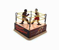 NB Tinplate Retro Wind-Up-Boxer kämpfen im Ring Punches, Aufziehspielzeug, Nostalgisch Ornament, Kindergeburtstags-Weihnachtsgeschenk, Collect, MS381,2-1