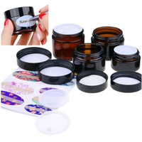 5g 10g 15g 20g 30g 50g 100g Amber Glass Jar Cosmetic Cream B...
