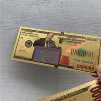 4 estilos 2020 Donald Trump Dólar estadounidense Presidente Bandería Billetes de papel de aluminio de oro Crafts de monedas conmemorativas AMERICA Suministro de elección general E3408