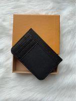 M61733 Fransa Lüks Tasarımcı Kadın Erkek Kart Sahibinin Mono Gram Tuval Kahverengi Damalı Siyah Ekose Tuval Deri Ücretsiz Kargo Kaliteli