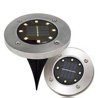 IP65防水8 LEDソーラー屋外地面ランプランドスケープ芝生階層階層埋め込み夜ライトホームガーデン装飾