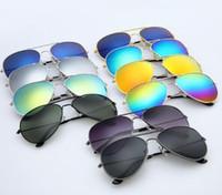 Kadın eyewears renkli film güneş gözlüğü Metal güneş gözlükleri Dazzle renk gözlüğü Güneş Gözlükleri bayanlar açık Gölge Gözlük moda erkek güneş gözlüğü