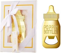 White Bottle Opener Baby Shower Return Gifts for GuestFeeding Bottle Beer Openers Wedding Favors Cute for Kitchen Bar Party Favors Gifts