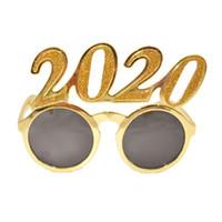 2020 Numbers Photo Prop Glasses Flash Powder Plastic New Year Eyeglasses взрослые дети очки для украшения вечеринок 3styles RRA2564