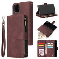For iPhone 11 Pro Max XS XR X 8 7 Plus Leather Zipper Wallet...