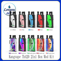 100% Original Kangvape Th420 2in1 Box Mod Kit 650mAh Préchauffez VV Tension variable 2 en 1 Batterie Pour Compatible Pod 510 cartouches