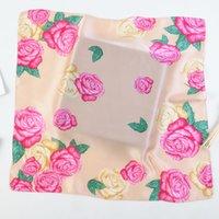 Корейская версия новой 53см шелк каллы лилии цветок пион цветок дамы небольшие квадратные шарфы небольшой шарф student24