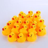 고품질 아기 목욕 물 장난감 사운드 미니 노란색 고무 오리 장난감 어린이 수영 비치 선물 오리 목욕 작은 오리 K9