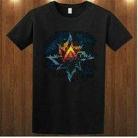 Nueva Amaranthe danesa banda de metal Dragonland Kame Negro para hombre de la camiseta del tamaño S-2XL de Harajuku de Hip Hop Camiseta