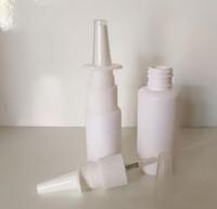 Al por mayor de 1000 unidades de 10 ml blanca vacía de plástico Nasal Spray nasal de la botella 10ml atomizadores