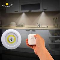 New Regulável LED Sob Gabinete Light com bateria de controle remoto operado LED Closets Luzes para Wardrobe iluminação do banheiro