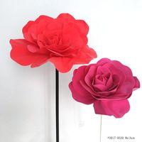 30CM همية رغوة كبيرة الزهور رئيس الاصطناعي الورود مجموعة من الطراز الأوروبي زفاف زهرة الجدار نافذة عرس تخطيط الخلفية