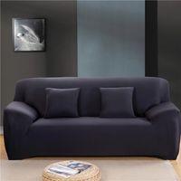 190-230cm الصلبة لون مطاطا تغطية أريكة غرفة البوليستر دنة الحديثة ركن أريكة الأريكة الغلاف كرسي حامي جلوس 3 مقاعد