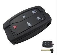 عالية الجودة قذيفة مفتاح السيارة ل اندروفر مفتاح بعيد الذكية قذيفة 4 + 1 زر النائية غطاء شحن مجاني