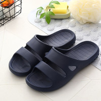 Men Flat Bath Slippers Summer Sandals Indoor & Outdoor Slipp...