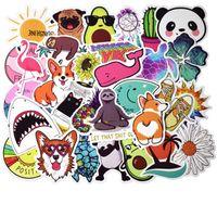 50PCS جرو Kirky DIY ملصق لوط ملصقات الحيوان لطيف الكتابة على الجدران لوح التزلج على الجليد محمول الأمتعة للدراجات النارية الرئيسية لصائق هدايا للأطفال