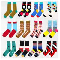 Yenilikçi Baskılı Unisex Bay Bayan Yumuşak Pamuk Çorap Karışık Renkli Tasarım Desen Renkli Moda Fantezi Casual Çorap Noel Hediye