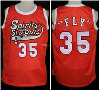 """# 35 James """"Fly"""" Williams Spirits de St. Louis rétro Jersey Basketball Jersey Mens Numes de Numes personnalisés Couverts Jerseys"""