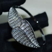 Classico Choucong Nuovi gioielli di lusso unici 925 Sterling Silver Snake Bangle Bianco Chiaro 5A Cubic Zirconia Eternity Donne Bracciali da sposa