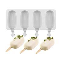 Silikon Dondurma Kalıpları Ev Yapımı Gıda Sınıfı 2 Boyutu Buz lolly Kalıpları Dondurucu Dondurma Çubuğu Kalıpları Makinesi Popsicle Sticks Ile