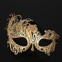 Femmes Masque de Fer Halloween métal diamant Phoenix demi-masque Face Party Mask