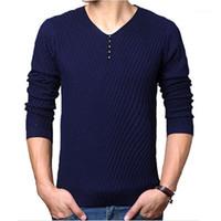 Мужские свитера 2021 осень зима бренд случайные V-образным вырезом свитер мужской кашемире шерсть тонкий пуловер рождественские мужчины платье вязаный свитер1