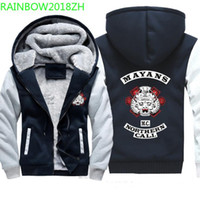 2018 Winter Thick Mayans Mc Printing men' s Hoodie Fleec...