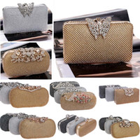 Luxury Diamond Clutch Evening Bag Ladies Dinner Pack con borsa Designer Designer Borsa borse Organizzazione Borsa a tracolla 18 stili HH9-2229