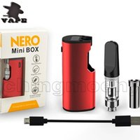 Auténtico Nero Mini Box Vaporizador Starter Kit incorporado 650mAh Precalentamiento Batería de voltaje variable con 0.5ml TH205 cartucho de Vape para aceite grueso