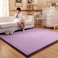 Spesso 3CM corallo del panno morbido velluto camera mat tappeto addensato bambino salito tappetino giapponese, tatami lvingroom tappeto di grandi dimensioni mattess