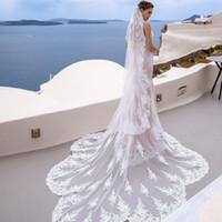 Véus do casamento do desenhista feitos sob encomenda 2020 novos 3/4/5 metros longo véu nupcial com pente acessórios de casamento quente