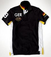 2020 hommes Mode Pays Racing Big Cheval Broderie Polos Allemagne Espagne Mexique SUI Emirats Arabes Unis Norvège Japon Italie France Etats-Unis Polos T-shirts
