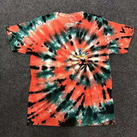 19SS NEW Travis Scott Astroworld Skeleton Tie Dye Maglietta manica corta hip hop Uomo Donna Estate T-shirt in cotone casual