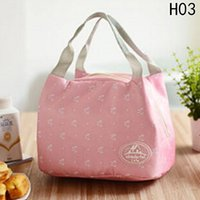 Fashion Portable Insulated Canvas Lunch Bag Thermal Picnic L...