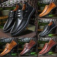 qualità di fascia alta a marchio genuino di lusso in pelle Designer maschi pattini casuali Lace-up o Slip-On di scarpe da uomo vestito Abito scarpe Driver Mocassini