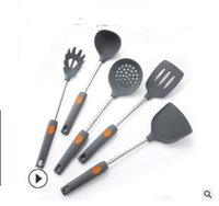 2020 vente chaude New ustensiles de cuisine set 6 pièces de jeu de gel de silice épaissie pelle non pot bâton cuillère Set clôture cuillère à soupe de videur