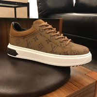 2019 France new leather fabric casual men' s shoes outdo...