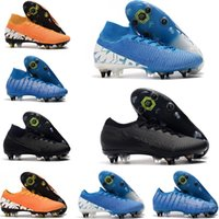 Stahl-genagelt Jugend Junior Boys Männer Fußball Klampen Stiefel Mercurial Superfly 7 Elite SG-PRO AC Fußballschuh CR7 Anti-Clog Traktion