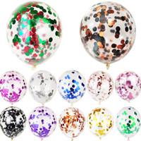 Globos de látex Globos de confeti con brillo Fiesta de cumpleaños Globo Decoración de la boda 12 pulgadas