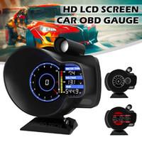Multifunktionsautometermessgerät mit Geschwindigkeits-Warnlicht-Schicht-Licht Auto digitales Dash-Display-LCD-Bildschirm OBD HUD Gauge-Boost
