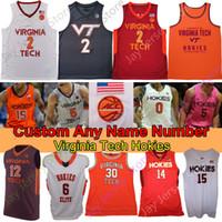 Virginia Tech Hokies Basquetebol Jersey NCAA College Landers Nolley II Nahiem Alleyne P.J. Horne Radford Cone Cattoor Bede John Ojiako Walker